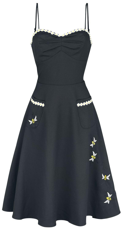 Voodoo Vixen Bee Detailed Flared Dress Kleid sc...