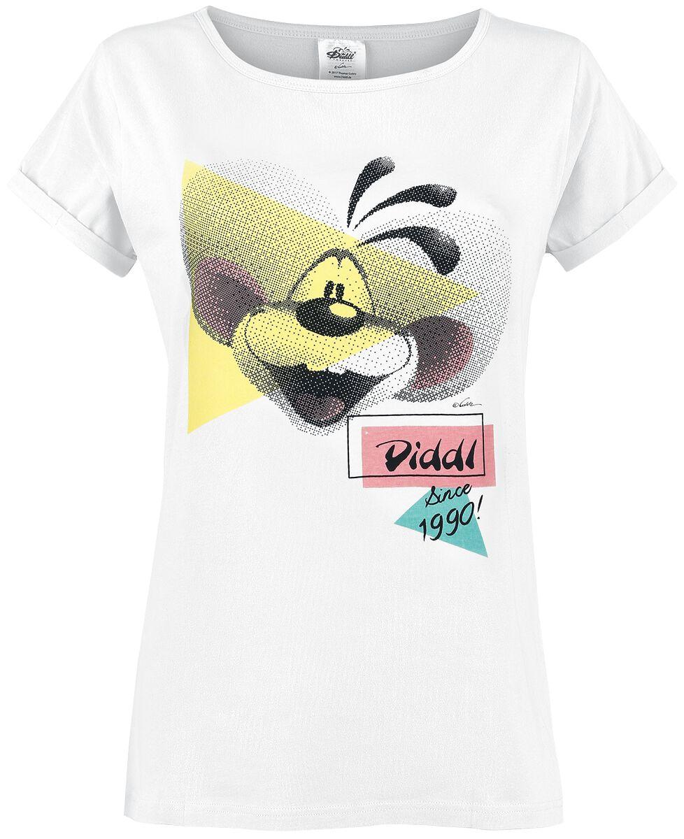 Diddl Since 1990! Koszulka damska biały