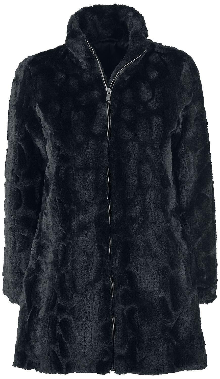 Image of   Forplay Fake fur Coat Girlie frakke sort