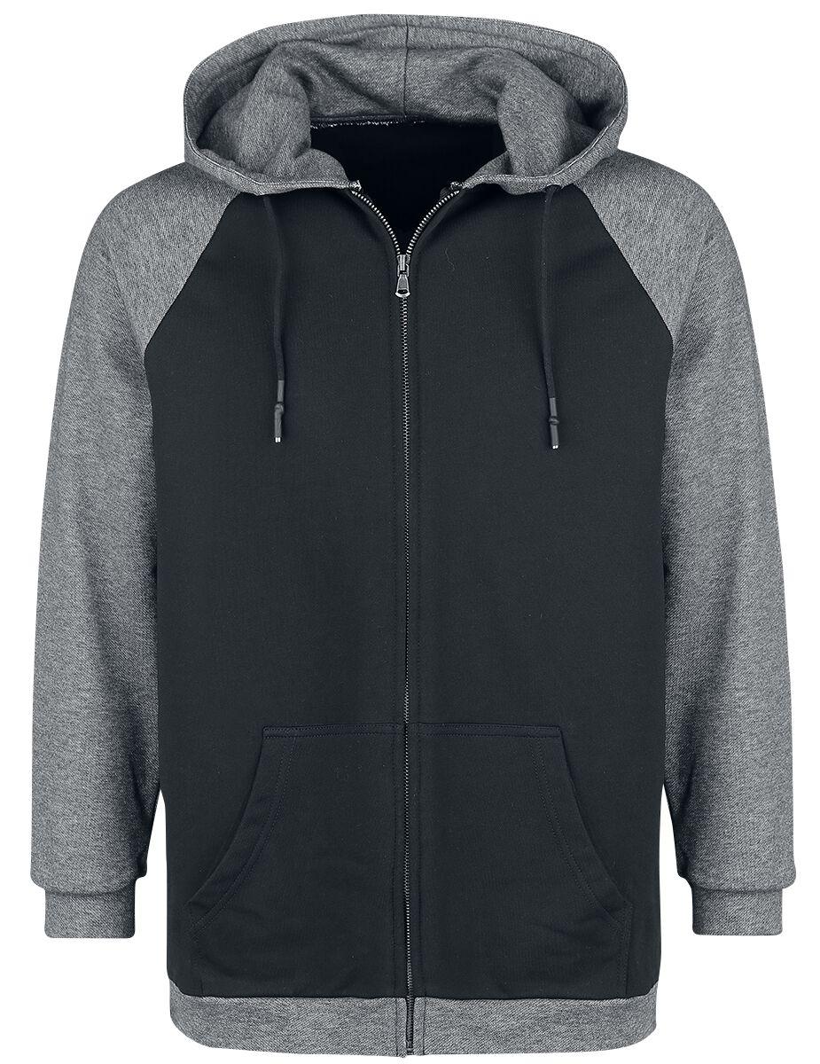 Image of   Forplay Raglan Contrast Zip Hoody Hættejakke sort-grå