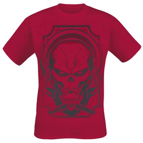 Captain America Red Skull - Furious Face T-shirt rouge