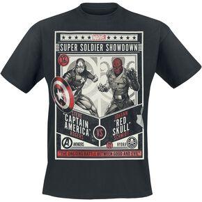 Captain America Red Skull - Super Soldier Showdown T-shirt noir