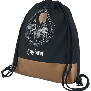 Harry Potter Château de Poudlard Sac de Gym noir/orange