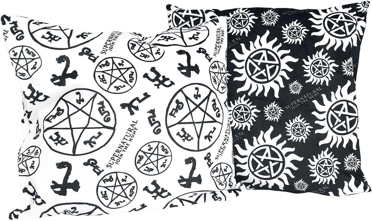 Image of   Supernatural Anti Possession - 2er Set Pudebetræk sort-hvid