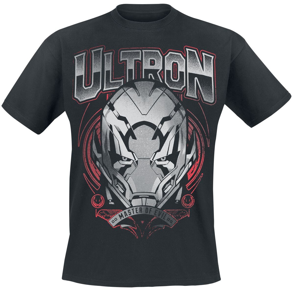 Image of   Avengers Age Of Ultron - Ultron - Master Of Evil T-Shirt sort