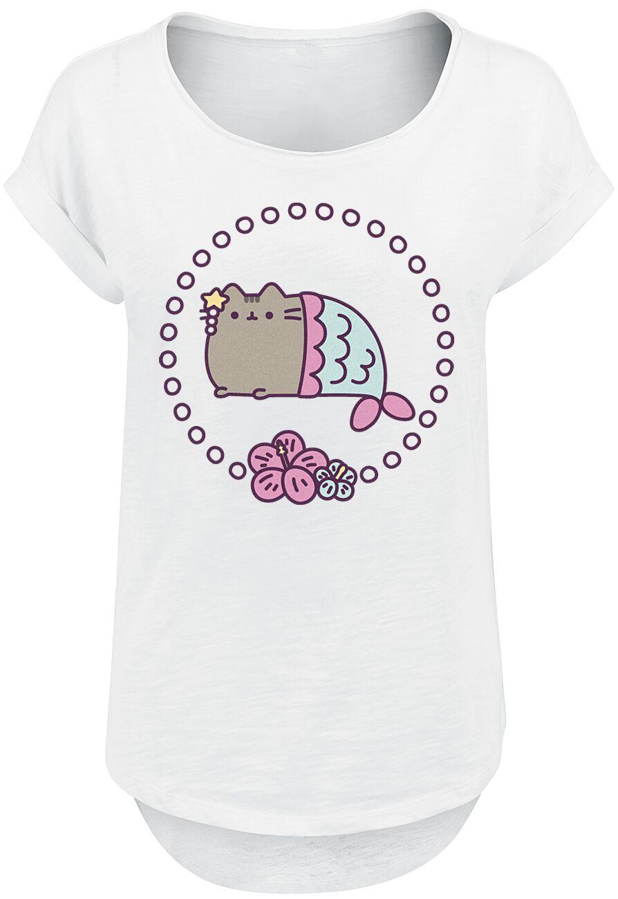 Pusheen Meowmaid Koszulka damska biały