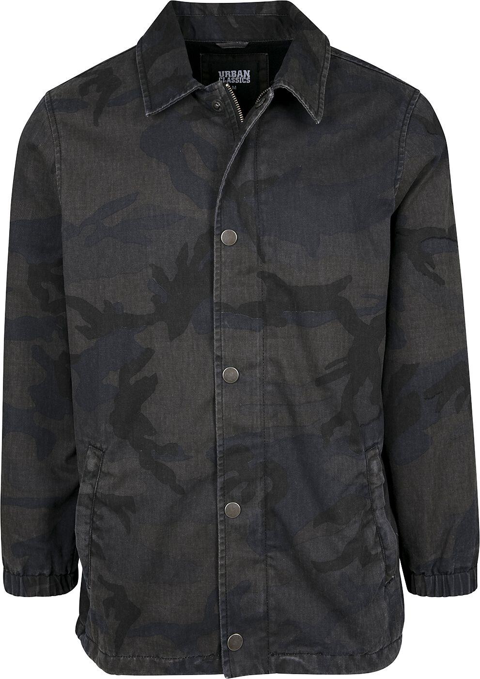 Image of   Urban Classics Camo Cotton Coach Jacket Jakke mørk camo