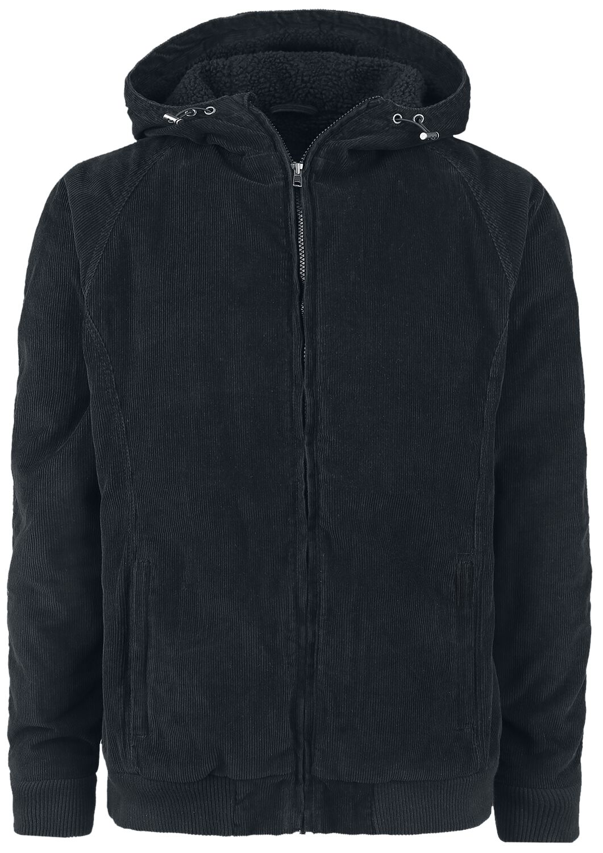 Image of   Urban Classics Hooded Corduroy Jacket Vinterjakker sort