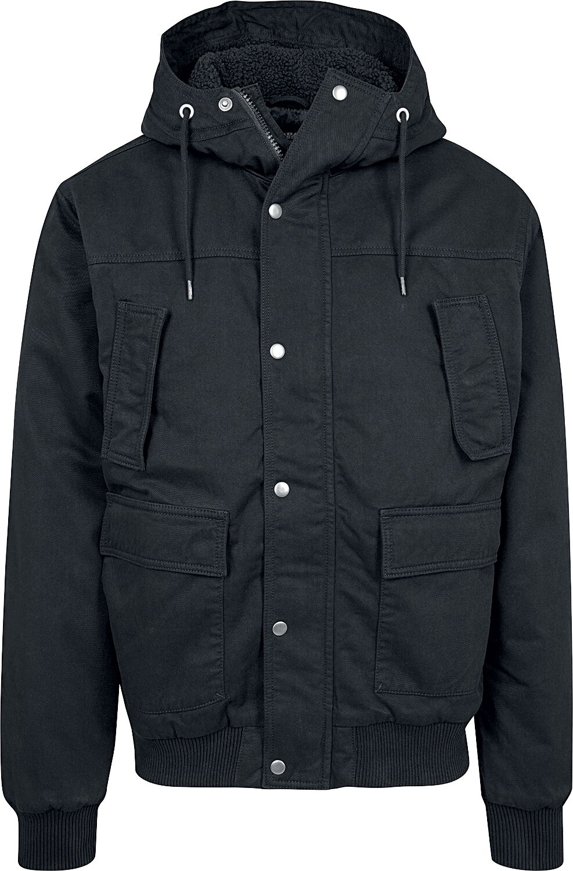 Image of   Urban Classics Hooded Cotton Jacket Vinterjakker sort