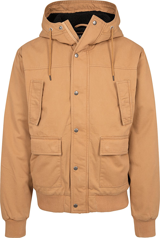 Image of   Urban Classics Hooded Cotton Jacket Vinterjakker kamel