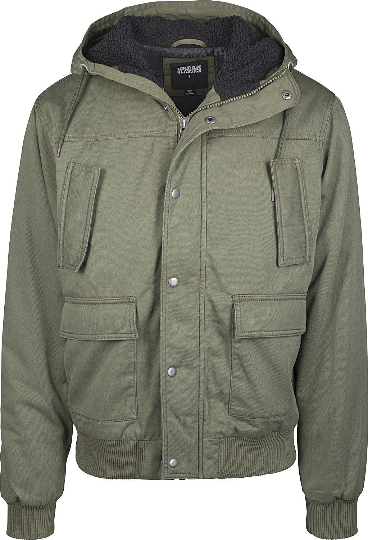 Image of   Urban Classics Hooded Cotton Jacket Vinterjakker olivengrøn