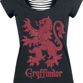 Harry Potter Gryffondor T-shirt Femme noir