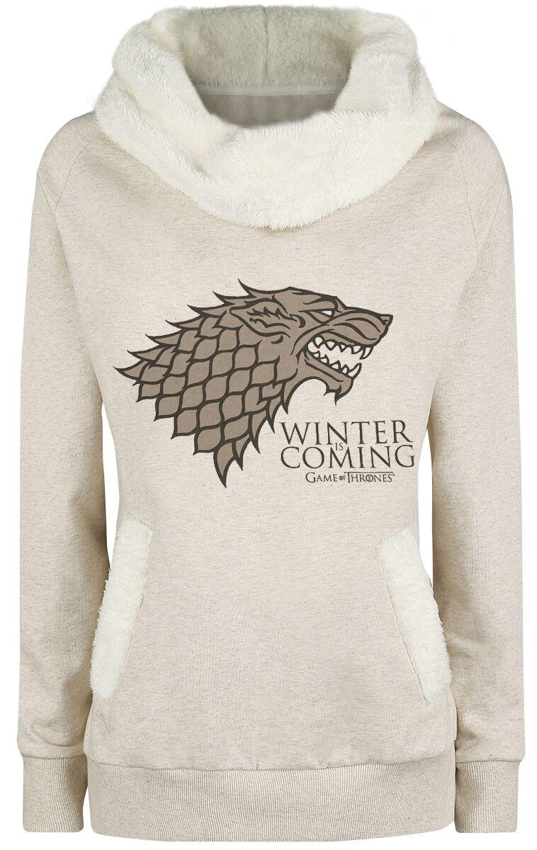 Image of   Game Of Thrones Winter Is Coming Girlie sweatshirt blakket beige
