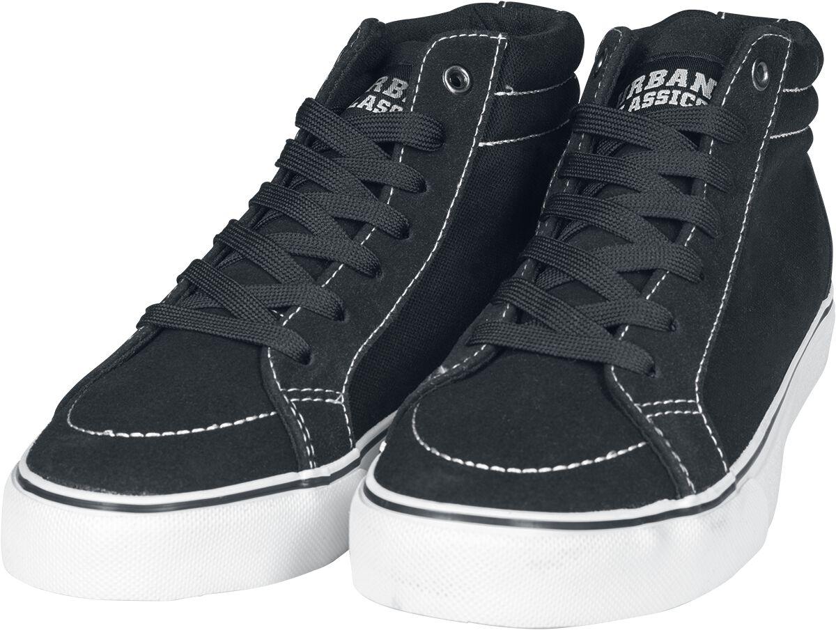 Image of   Urban Classics High Canvas Sneaker Sneakers sort-hvid