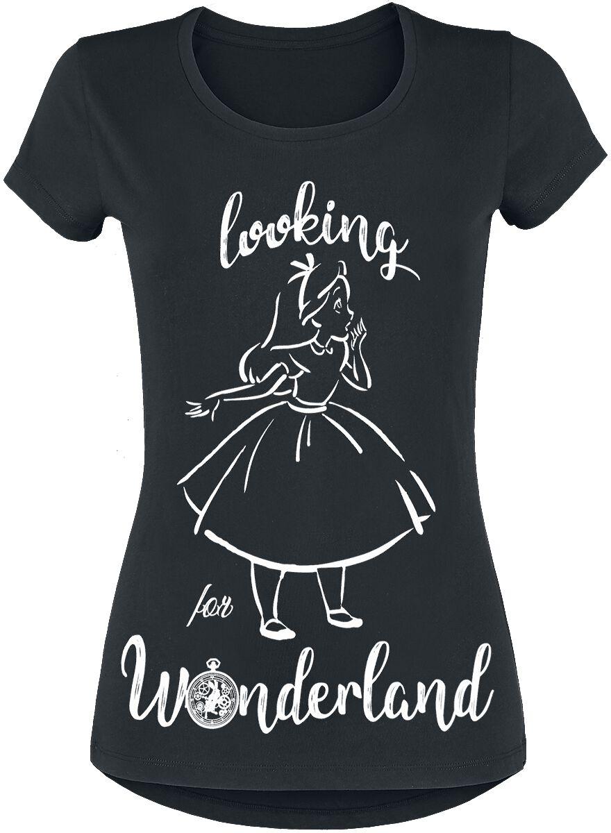 Image of   Alice i Eventyrland Looking For Wonderland Girlie trøje sort