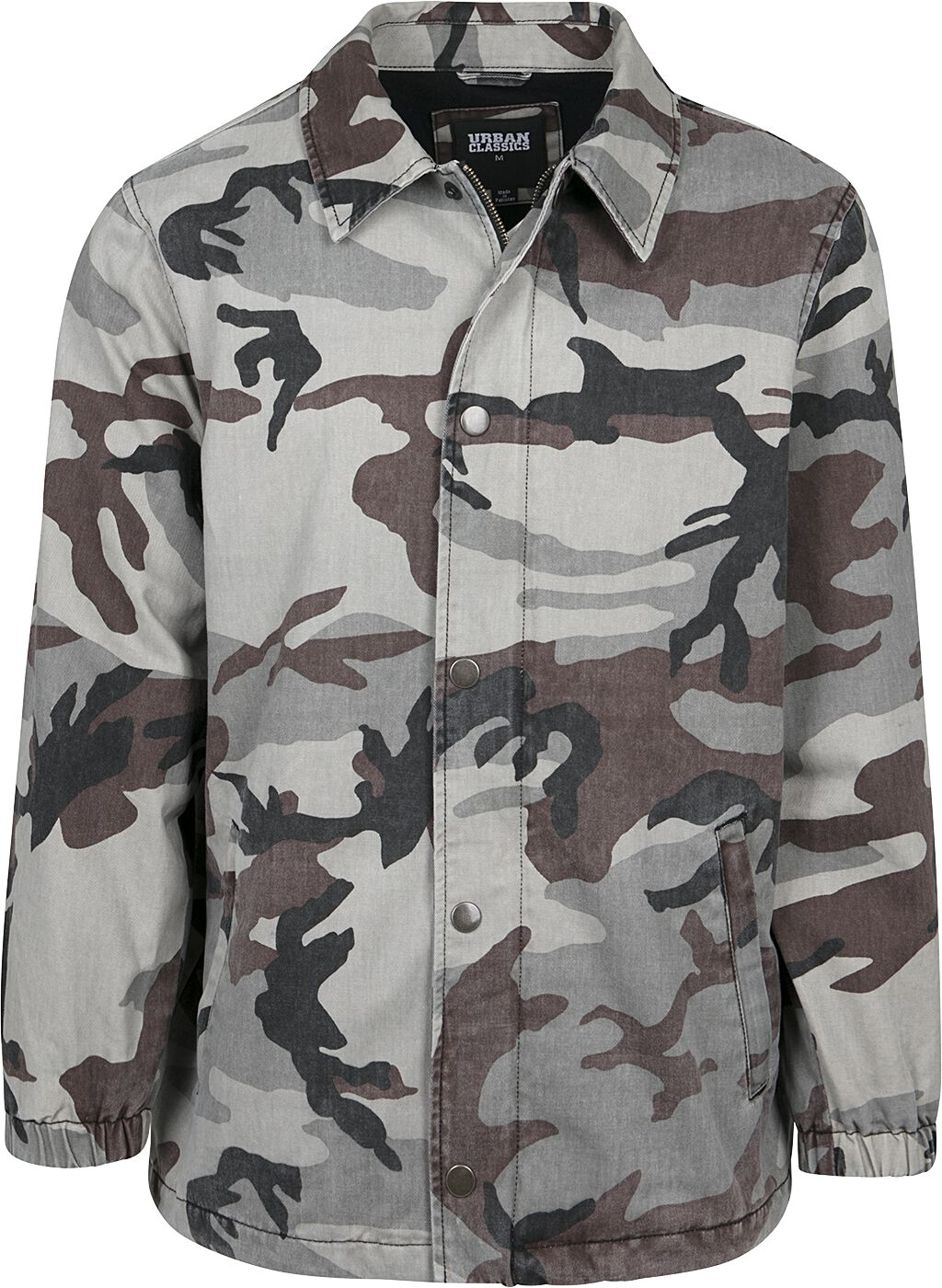 Image of   Urban Classics Camo Cotton Coach Jacket Jakke grå-camo