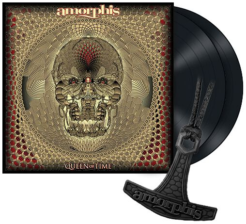 Amorphis Queen of time 2-LP & Halskette Standard