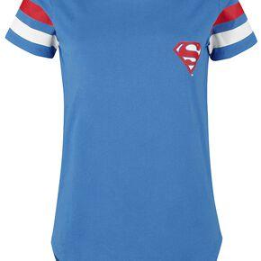 Superman Logo 33 T-shirt Femme bleu