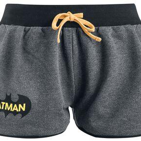 Batman Logo Short Femme chiné noir/gris