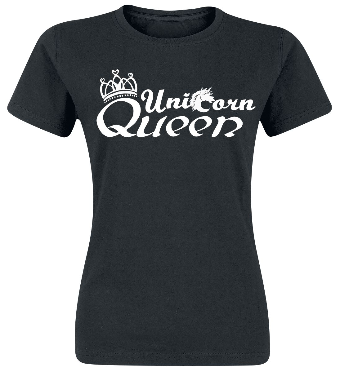 Unicorn Queen Koszulka damska czarny