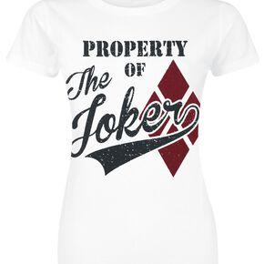 Harley Quinn Property Of The Joker T-shirt Femme blanc