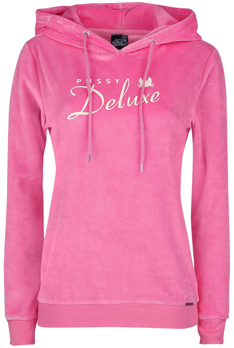 Image of   Pussy Deluxe Classic Fluffy Hoodie Girlie hættetrøje pink