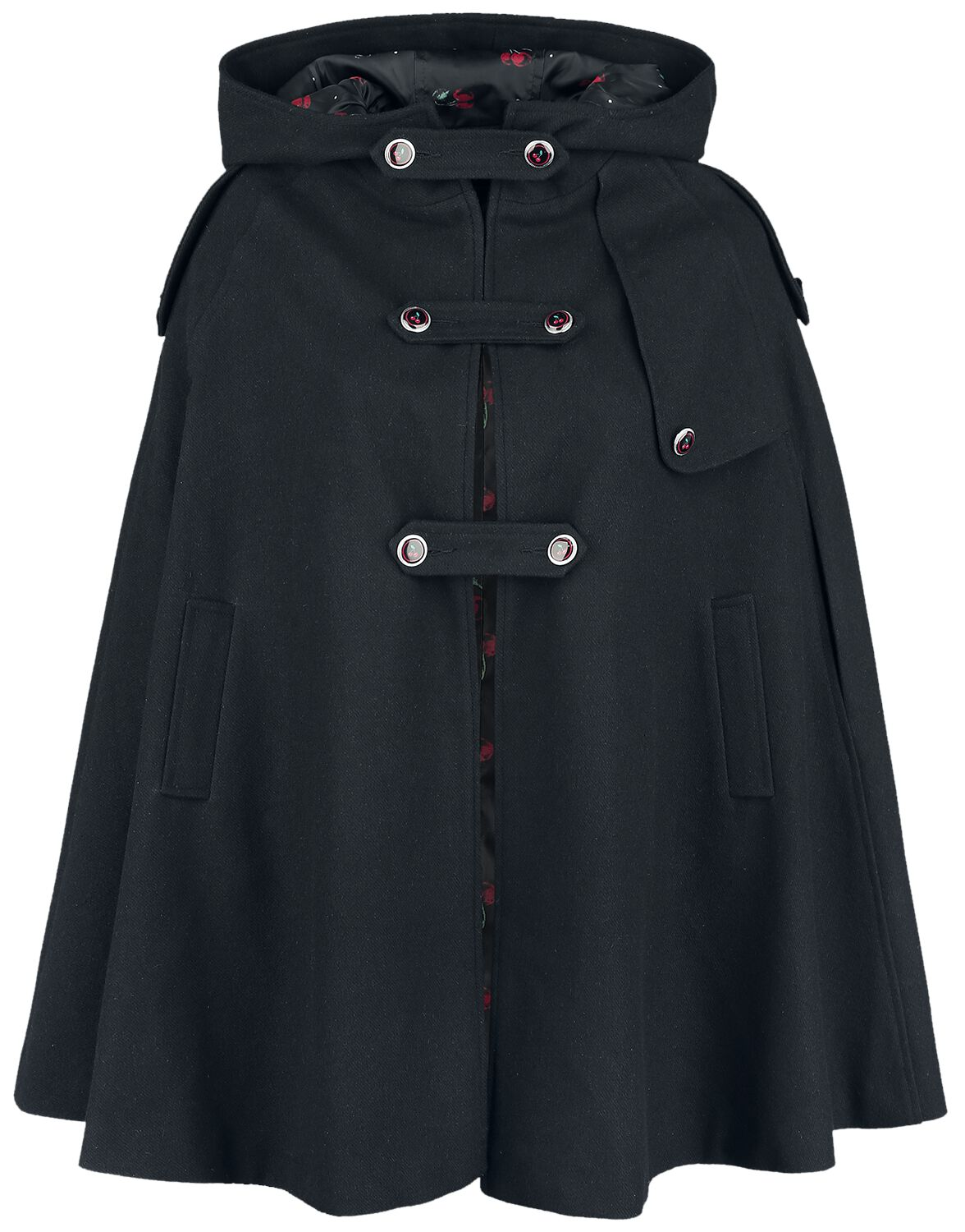 Image of   Pussy Deluxe Sweet Cherry Girl Cape Kappe sort