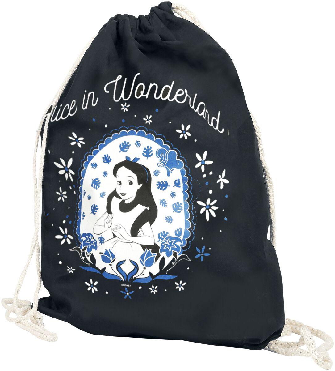 Sporttaschen für Frauen - Alice im Wunderland Alice Turnbeutel schwarz  - Onlineshop EMP