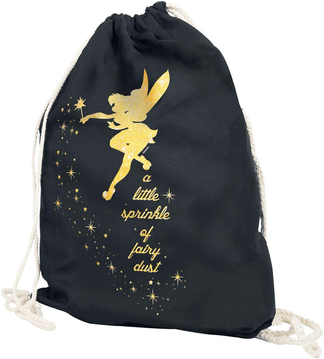 Sporttaschen für Frauen - Peter Pan Tinker Bell Fairy Dust Turnbeutel schwarz  - Onlineshop EMP