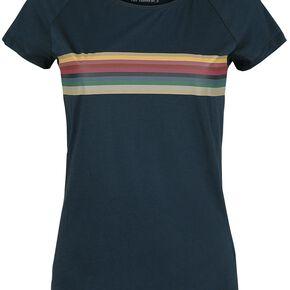 Doctor Who Le 13e Docteur - Rainbow T-shirt Femme bleu foncé
