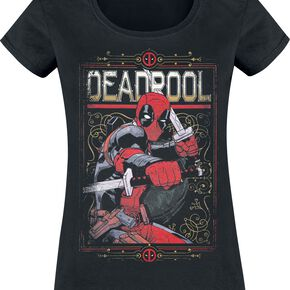 Deadpool Ready To Fight T-shirt Femme noir