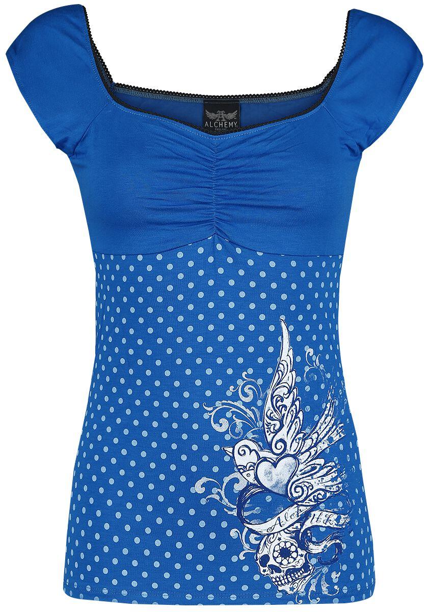 Alchemy England Femme Fatale Koszulka damska niebieski