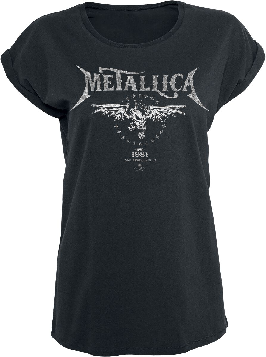 Image of   Metallica Biker Girlie trøje sort