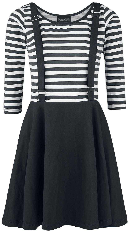 Rockabella Kadia Dress Kleid schwarz/weiß