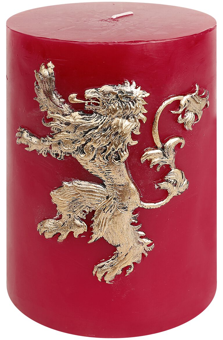 Image of   Game Of Thrones House Lannister Stearinlys rød/guld