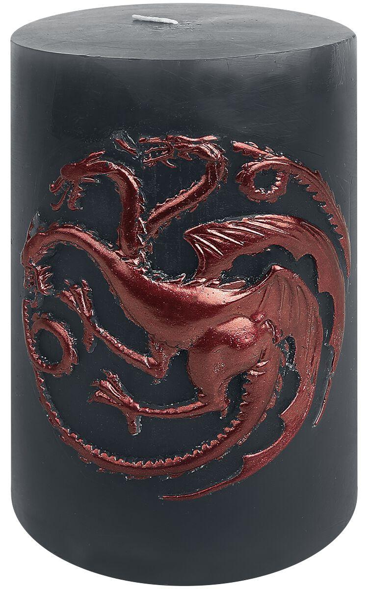 Image of   Game Of Thrones House Targaryen Stearinlys grå-rød
