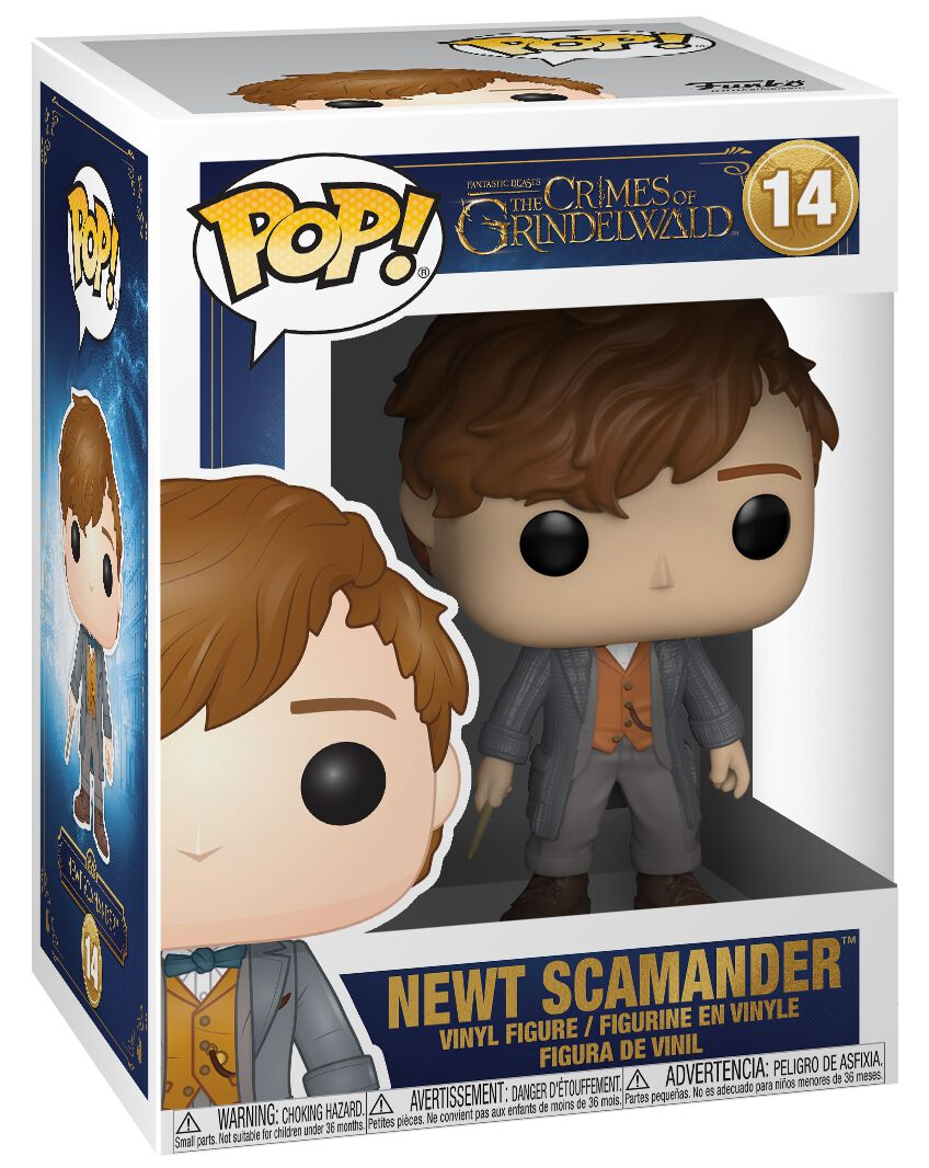 Image of   Fantastic Beasts The Crimes of Grindelwald - Newt Scamander (chance for Chase) Vinyl Figure 14 Samlefigur Standard