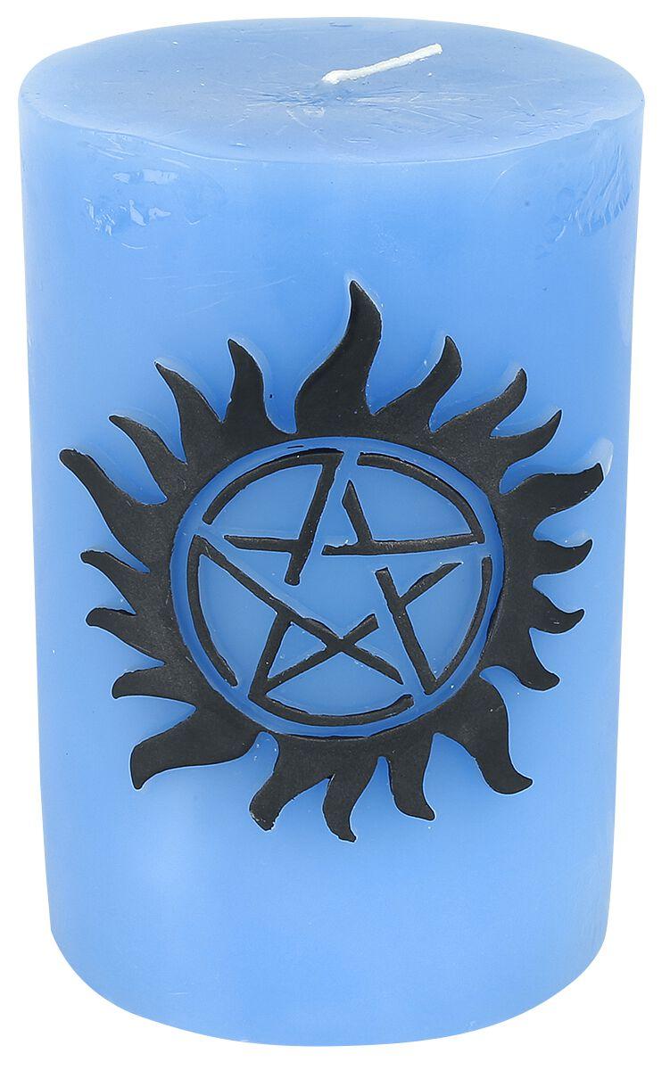 Image of   Supernatural Anti Possession Stearinlys blå-sort