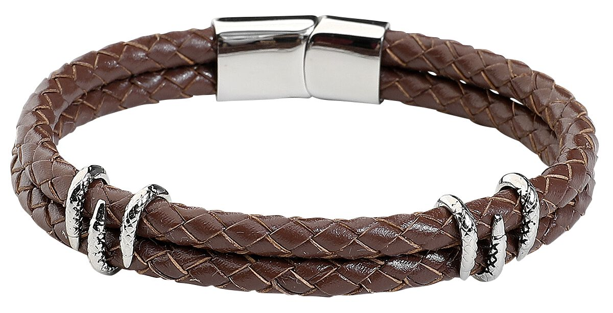 Image of   Wildcat Claws Bracelet Læderarmbånd brun