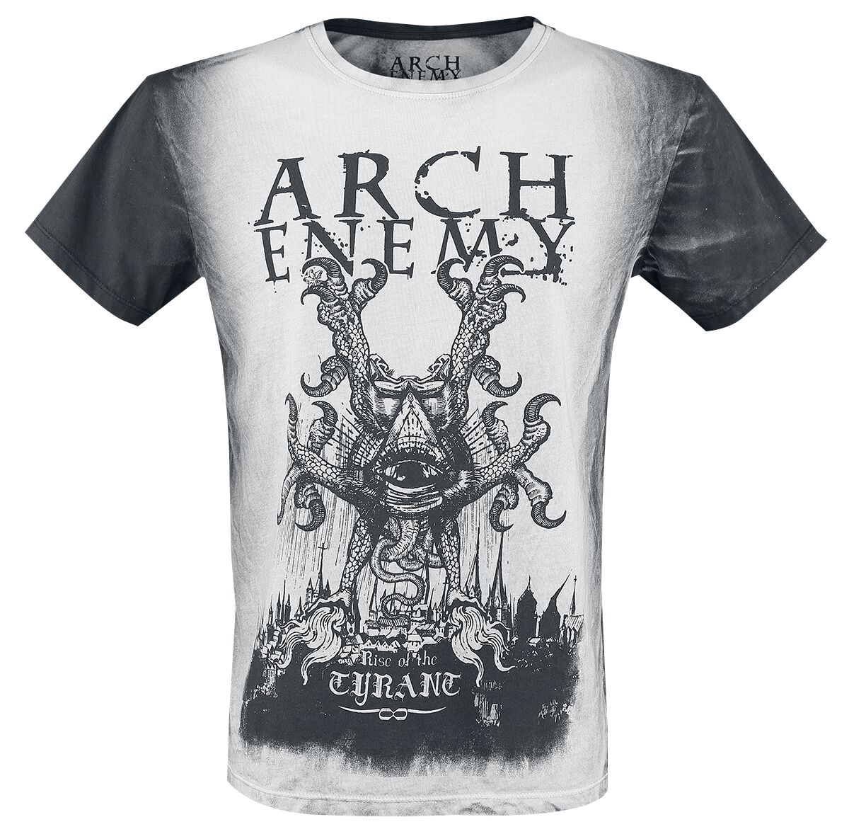 Image of   Arch Enemy Rise Of The Tyrant T-Shirt grå-sort