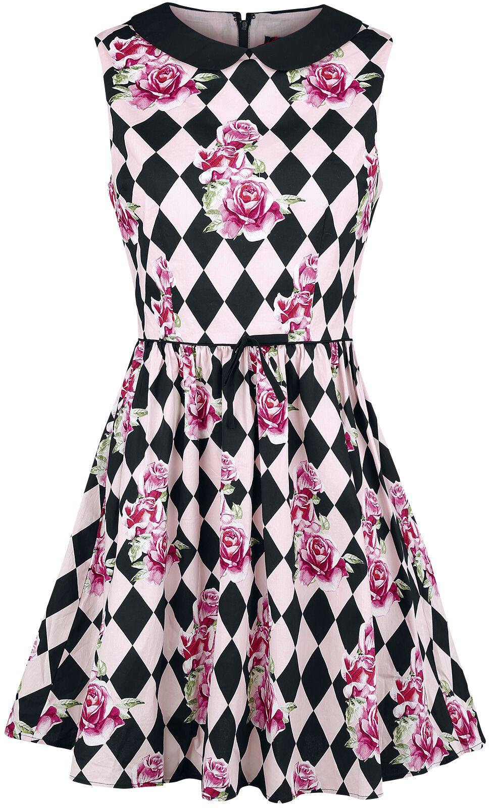 d2782ce1 50er kjole pink roser på sort baggrund