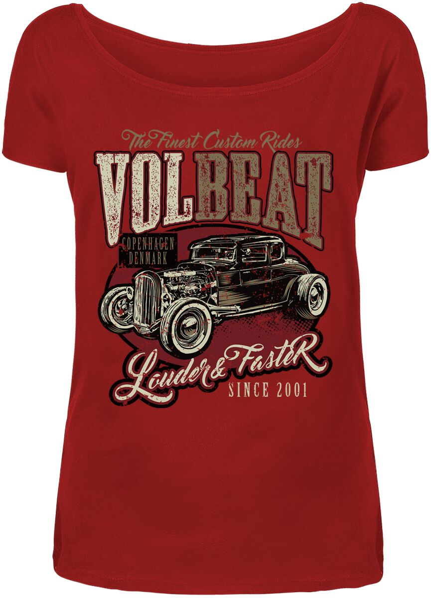 Image of   Volbeat Louder And Faster Girlie trøje rød