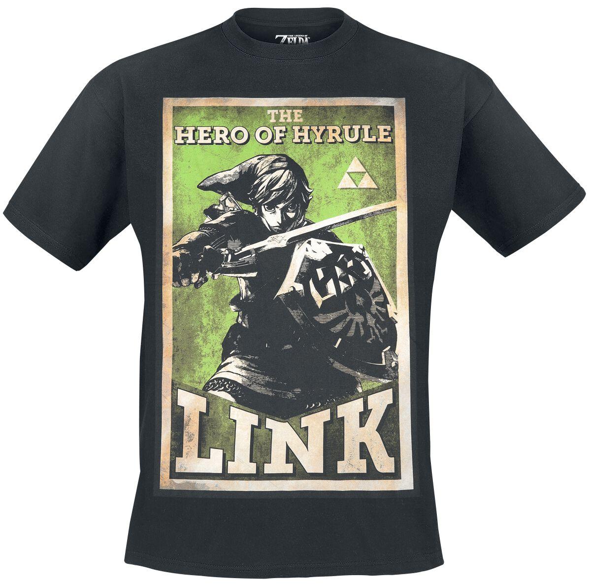 Image of   The Legend Of Zelda Hero Of Hyrule T-Shirt sort