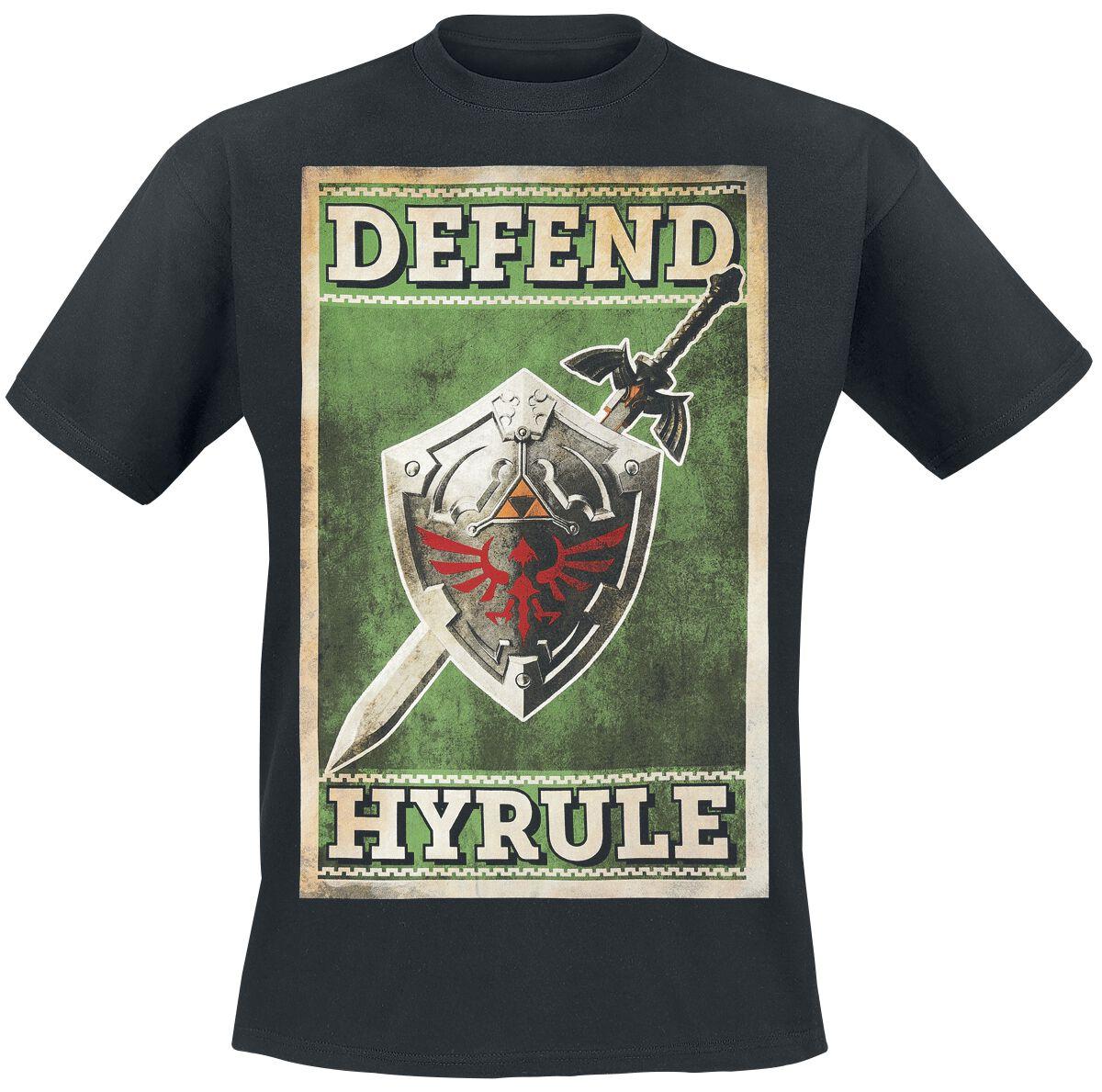 Image of   The Legend Of Zelda Defend Hyrule T-Shirt sort