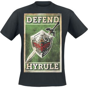 The Legend Of Zelda Defend Hyrule T-shirt noir