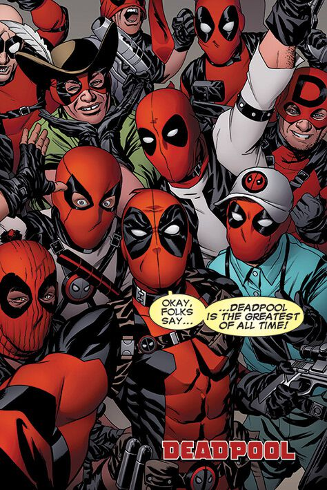 Image of   Deadpool Selfie Plakat multifarvet