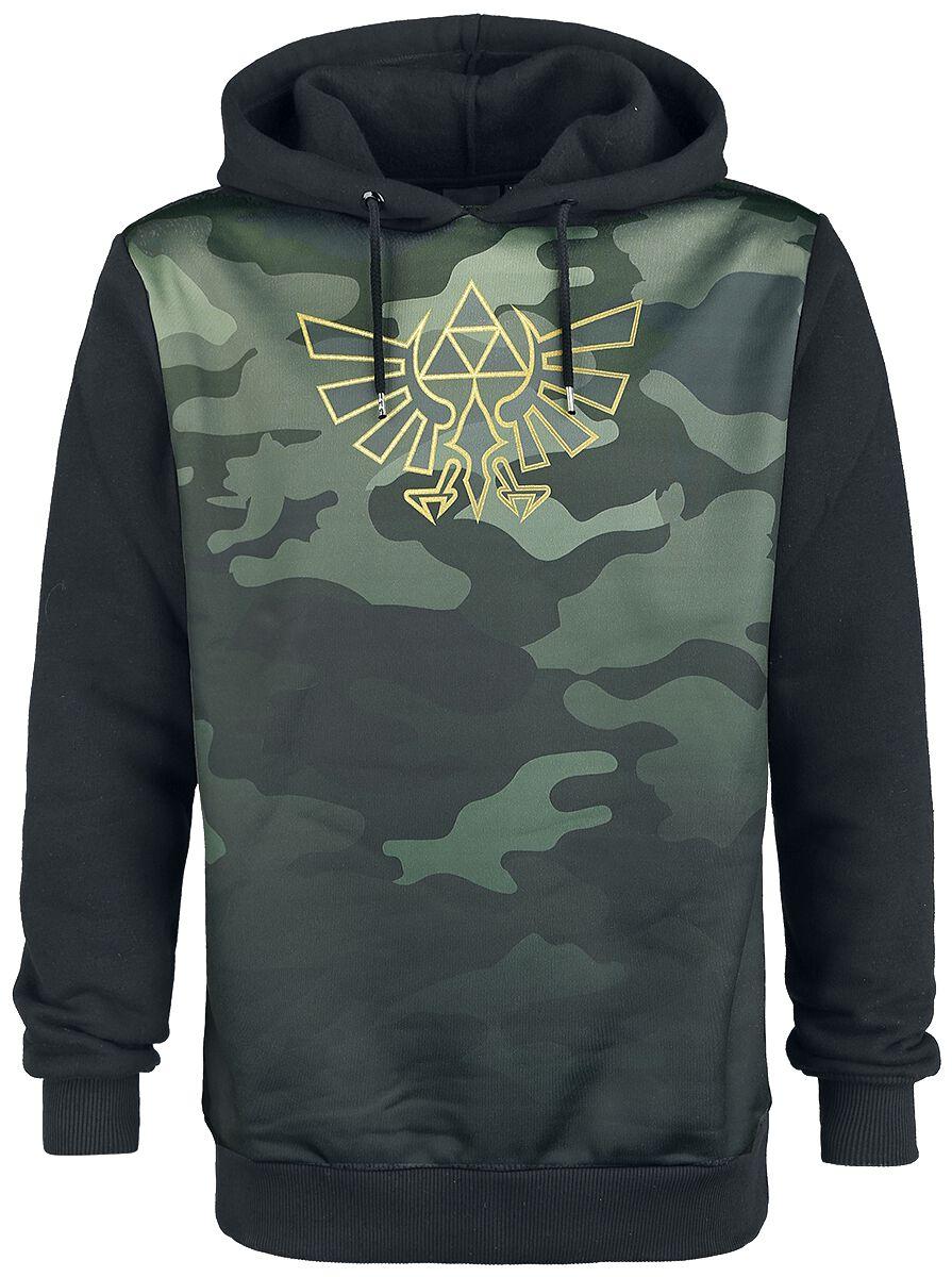 Image of   The Legend Of Zelda Camo Hættejakke camouflage-sort