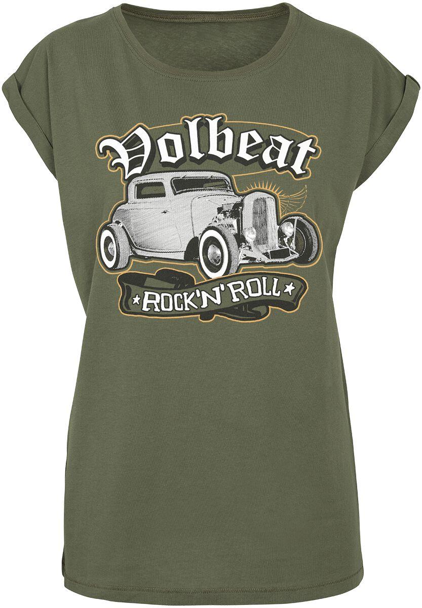Image of   Volbeat Rock'N'Roll Girlie trøje olivengrøn