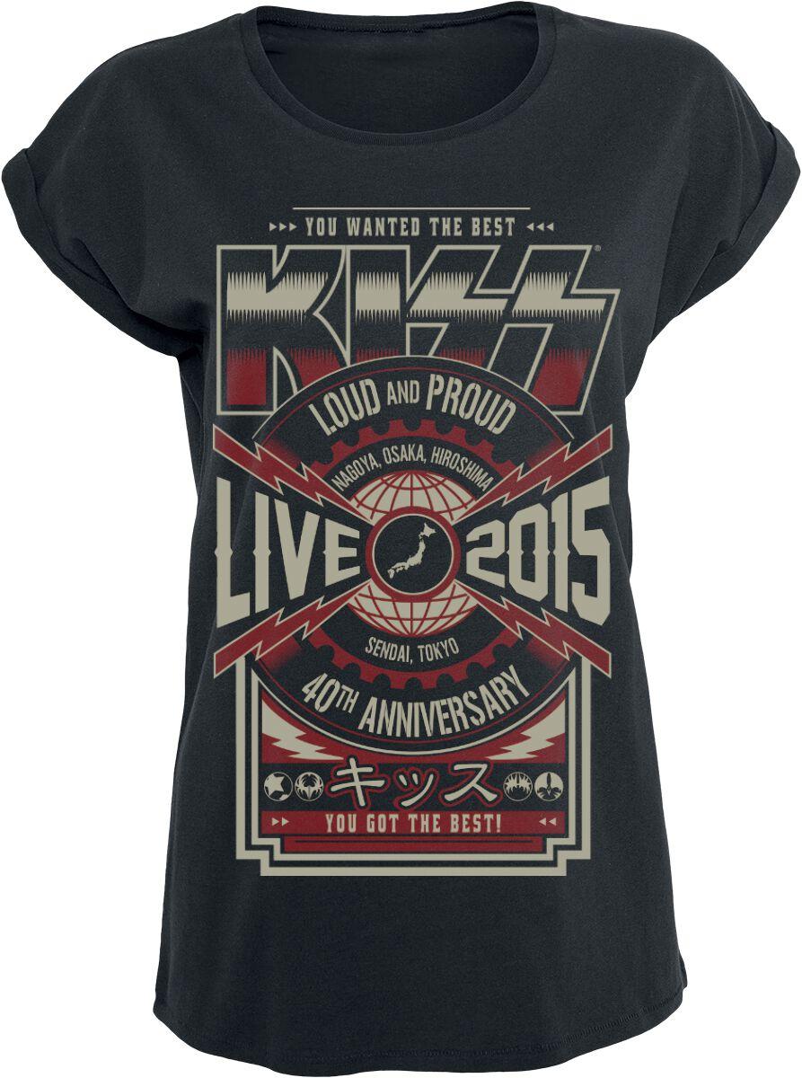 Image of   Kiss Japan Live 2015 Girlie trøje sort
