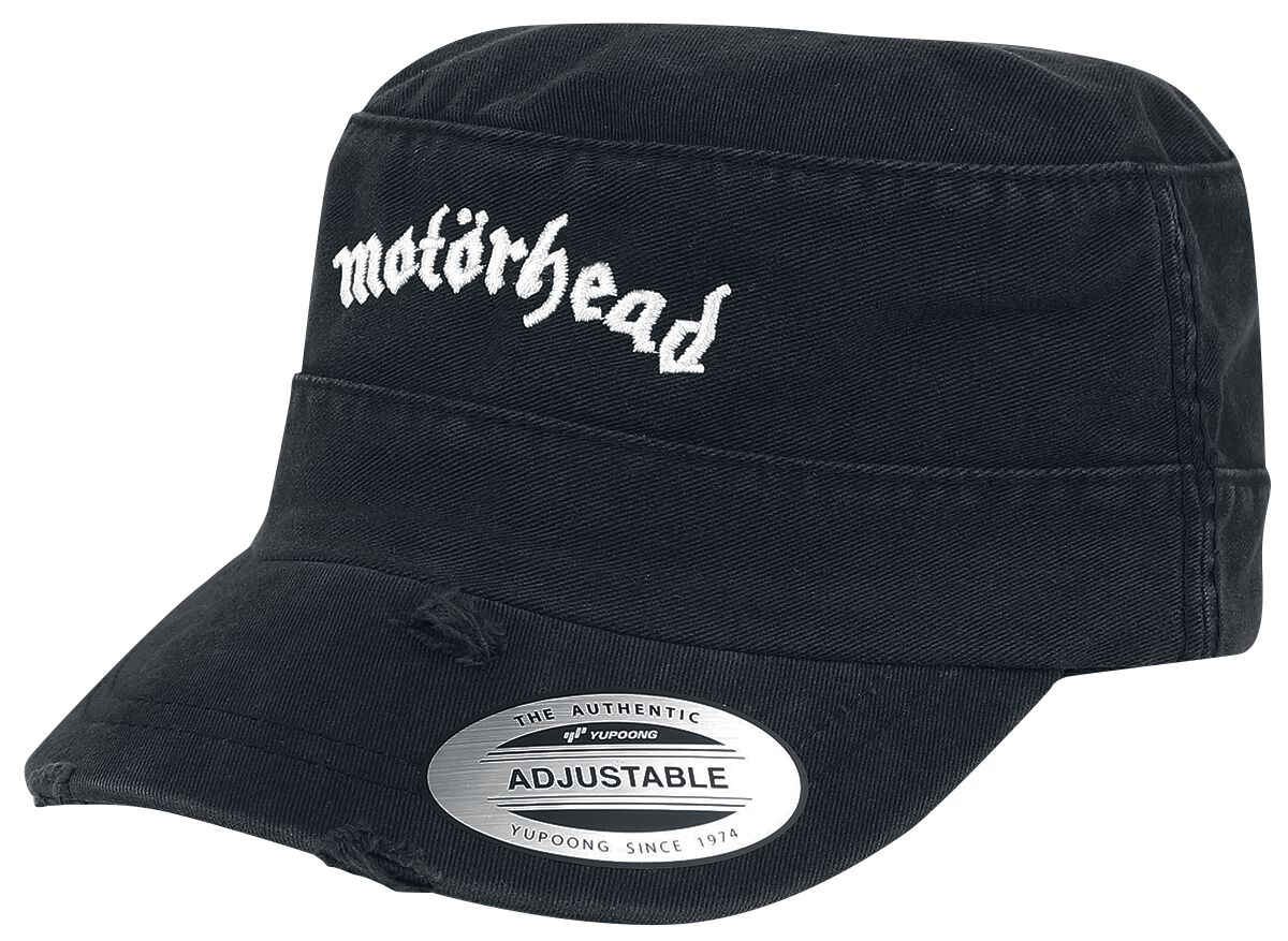 Image of   Motörhead Destroyed Logo Army Cap Armycap sort